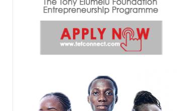 Photo of Apply For Tony Elumelu Foundation Entrepreneurship Funds 2019