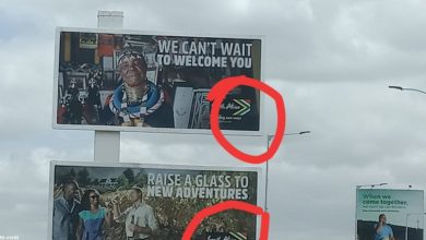 Photo of Billboard At JKIA Welcoming Visitors To South Africa Angers Kenyans
