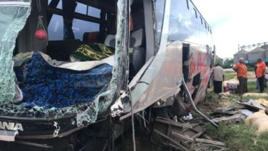 Photo of Mombasa Bound Tahmeed Bus Involved In Accident