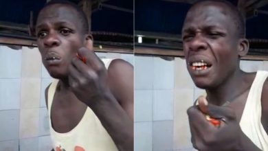 Photo of Foolish Suspected Mosque Thief Forced To Eat Hot Pepper
