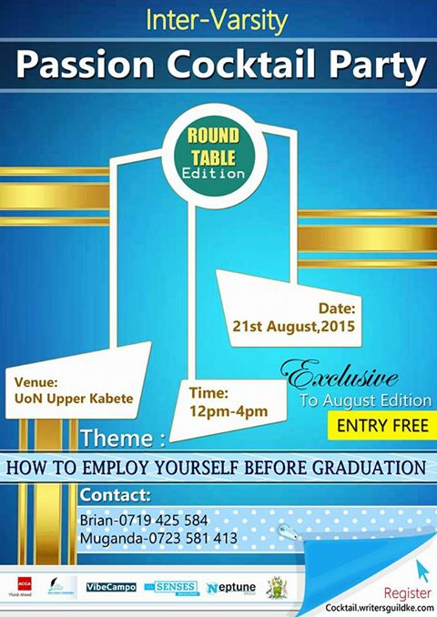 Photo of Passion Cocktail Party – learn how to employ yourself before you Graduate