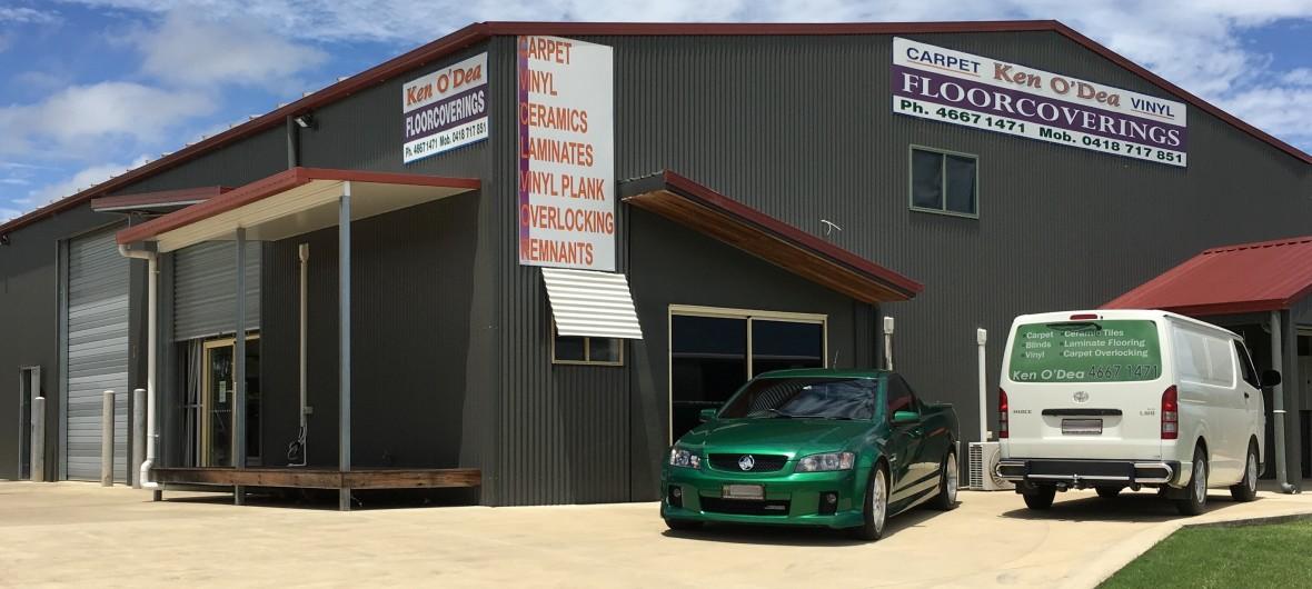 Ken O'Dea Floorcoverings shed