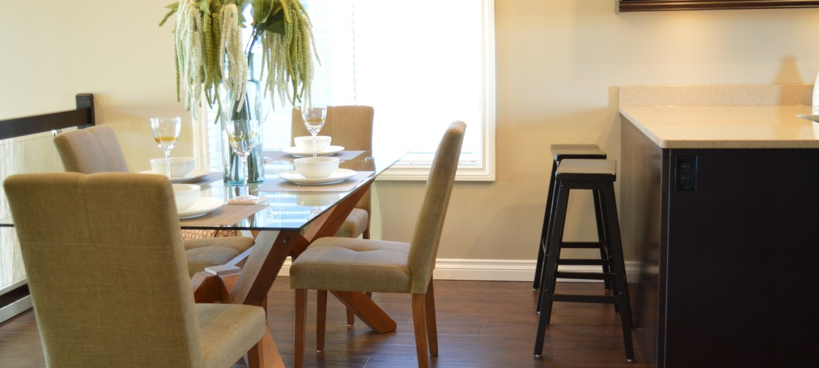 Dining room with timber floor