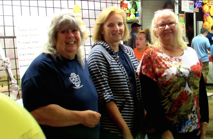 The Grab Bag Booth ladies at Fair Haven Firemen's Fair 2014 Photo/Elaine Van Develde
