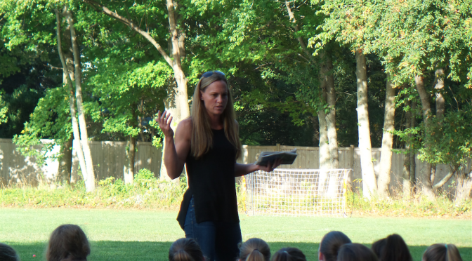 Lessons Learned by RFH Girls Soccer Team from Olympian Christie Rampone