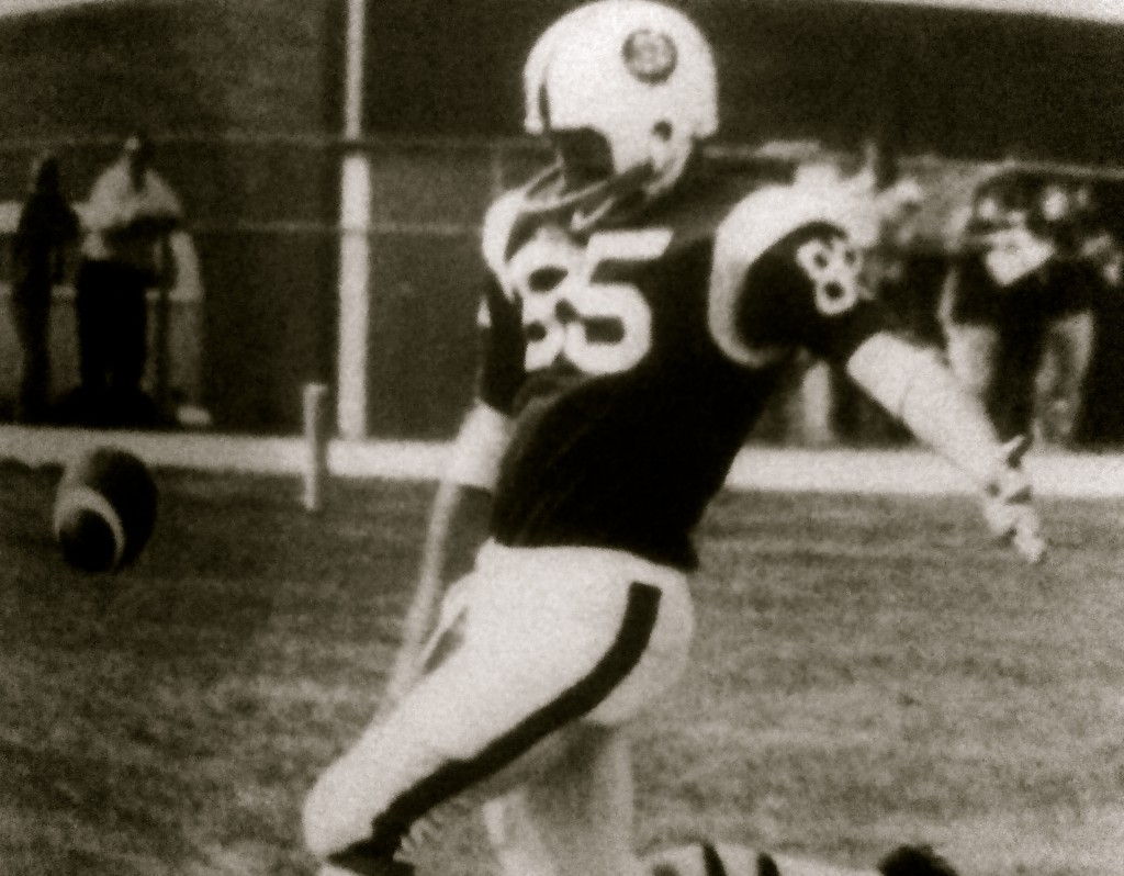 This 1975 RFH Football player was known for his punting. Photo/RFH 1976 Yearbook