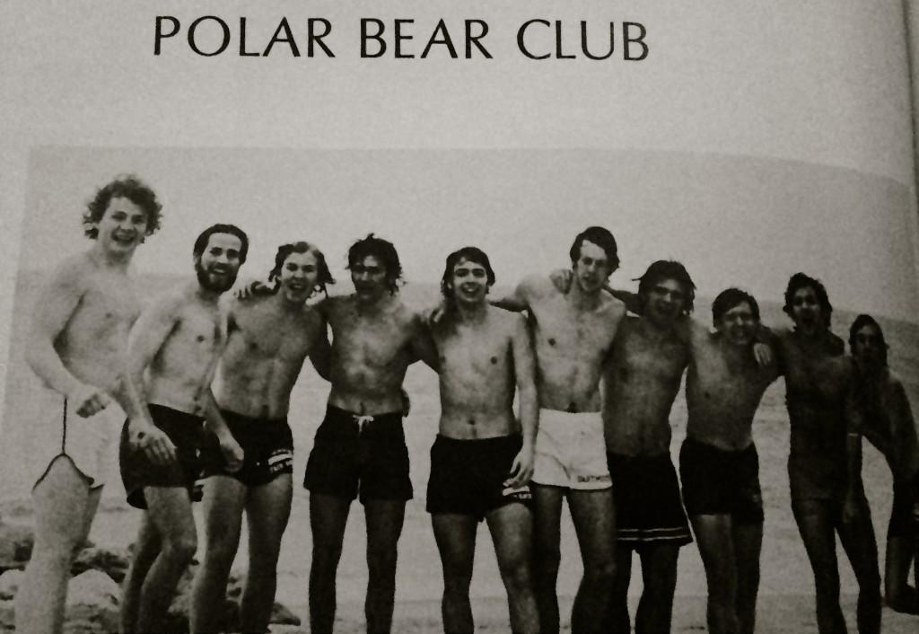 RFH Polar Bear Club after a plunge. Photo/RFH Yearbook screenshot