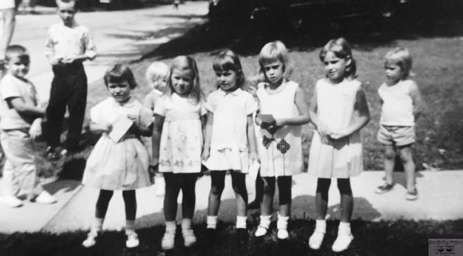 Retro First Day of School Girls