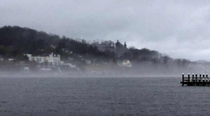 Scene Around: Misty Shrewsbury River