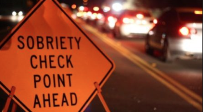 Area DWI Checkpoint Slated for Saturday