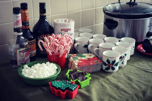 Hot Chocolate Bar Setup