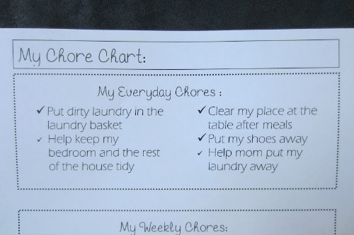 Chore Chart, Everyday Chores