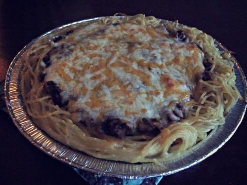 Cincinnati Spaghetti Pie Finished
