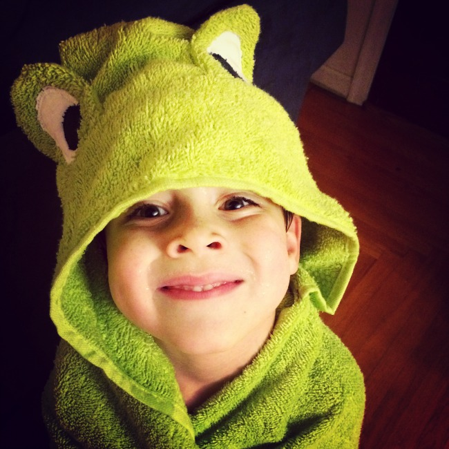Frog Party Towel