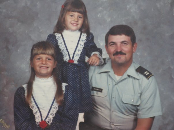Dad and us in the 80s