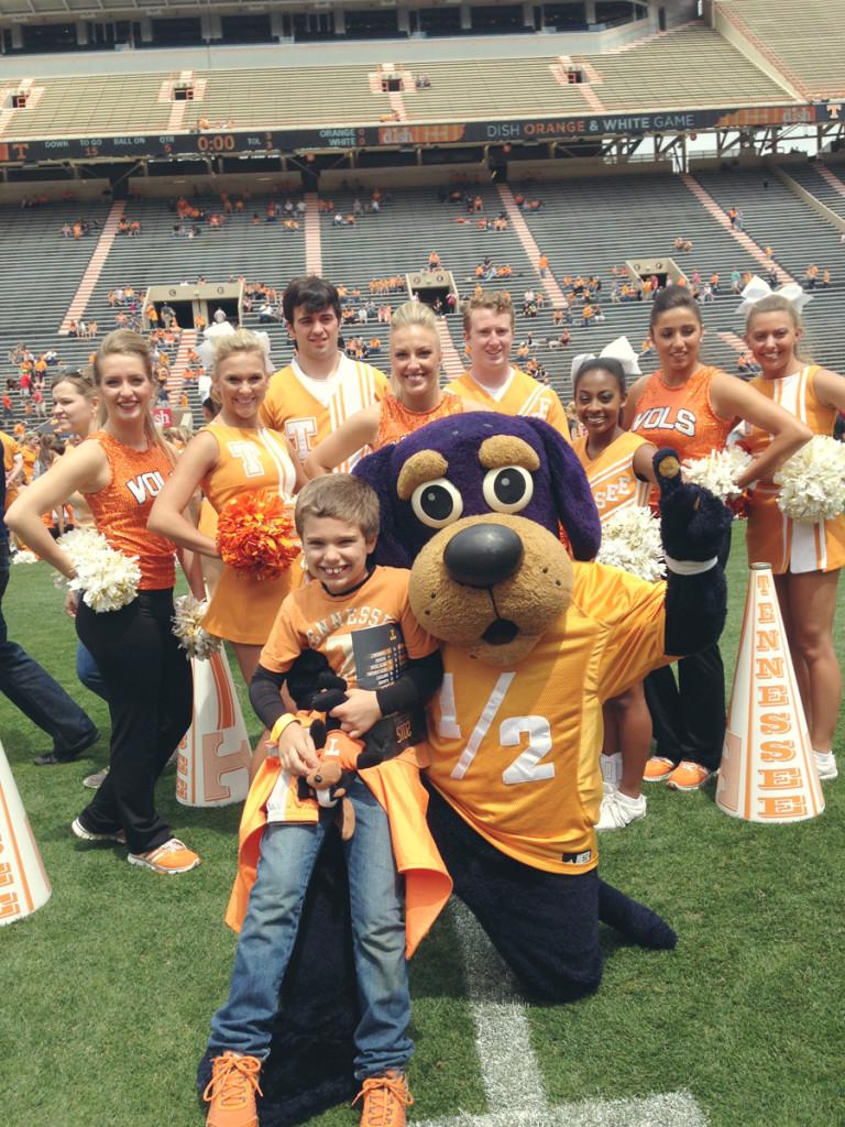 Jackson with Smokey and the Cheerleaders