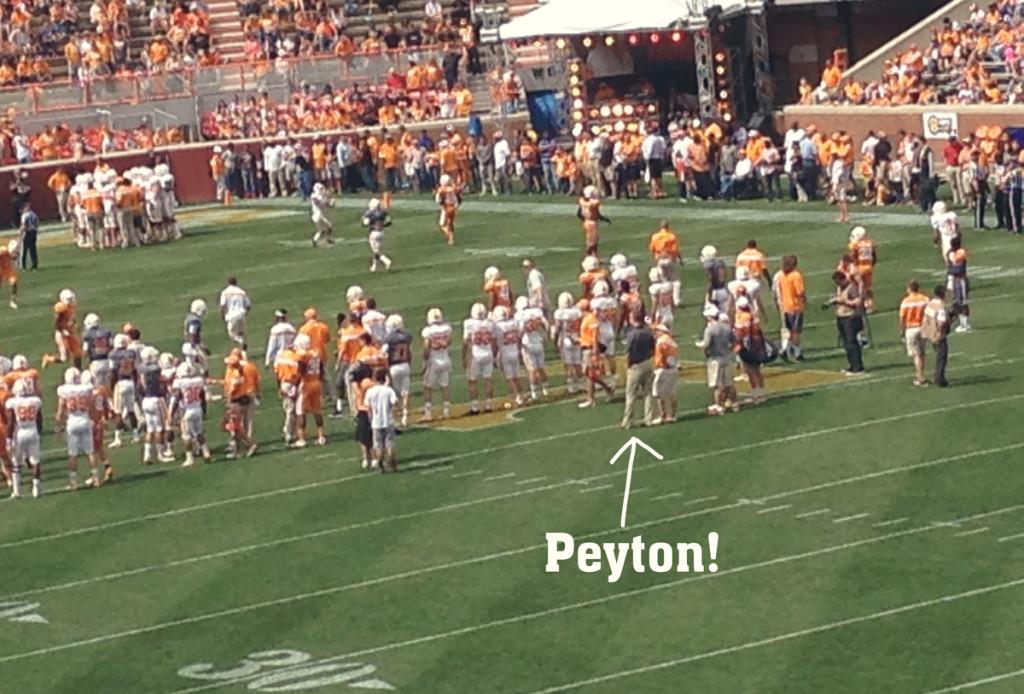 Peyton comes to visit