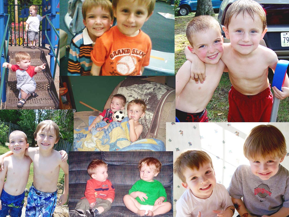 Jeremy and Ethan collage