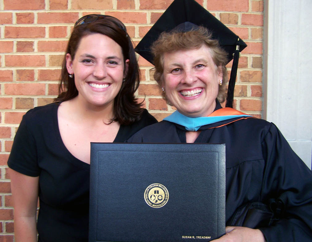 me and mom on her graduation
