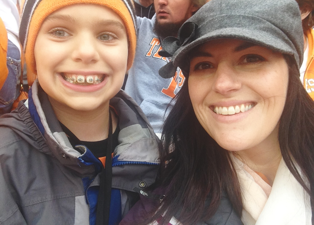 Me and Jackson at the UT SC game