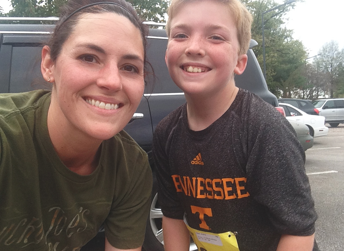 Me and Jeremy at his first 5k