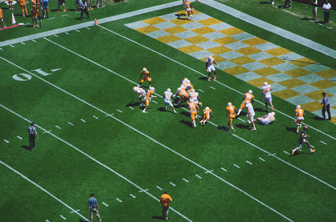 Orange and White at Neyland