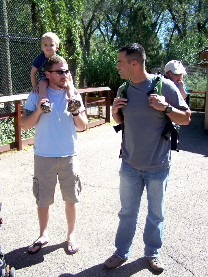 chuck and andrew at the zoo