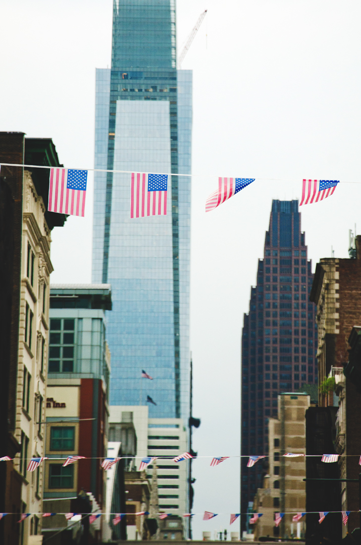 American flags in Philly