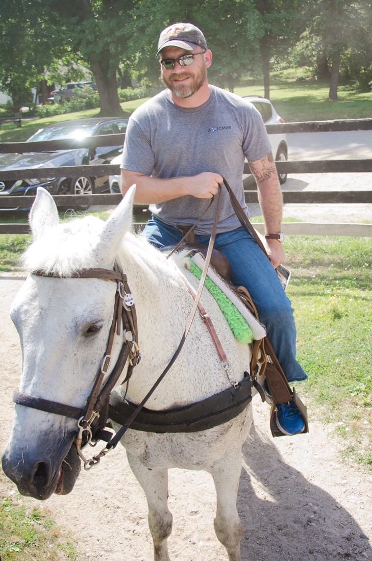 Chuck on his horse