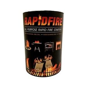 RAPIDFIRE - Fire Starter Indoor Outdoor Firelighters, Rapid Firestarter 100 Pack