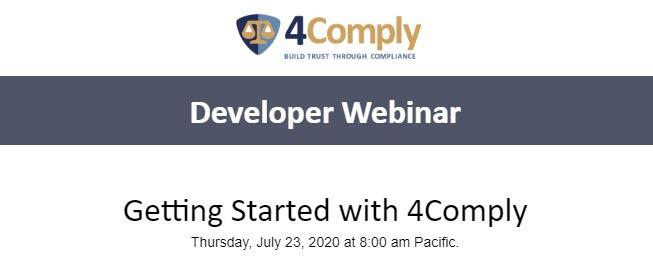 4comply developer webinar