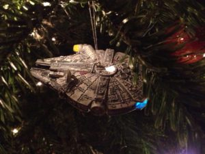 One of my illuminated Star Wars Christmas tree decorations. Not relevant to this post, just awesome.