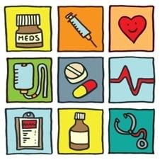 Drugs syringes graphic
