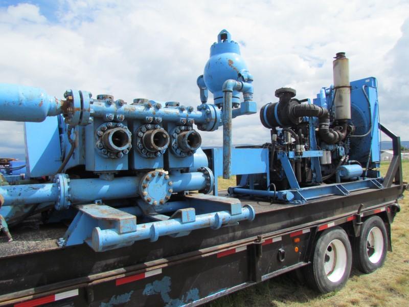 L & J 500 Triplex Mud Pump p/b DETROIT Series 60