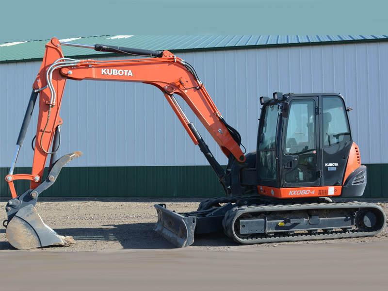 2014 KUBOTA KX080-4 Excavator