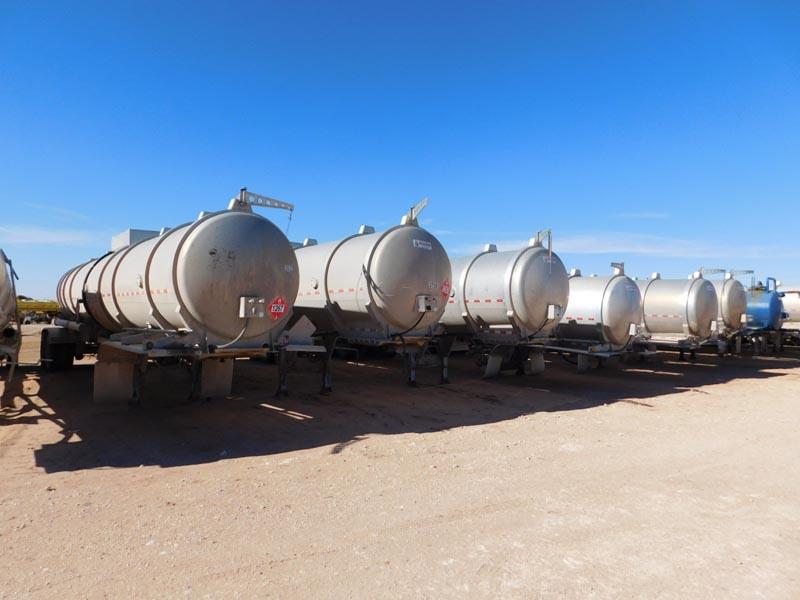 (8) 2012 TROXELL 200-Bbl Alum. Crude Trailer – DY2 YD1