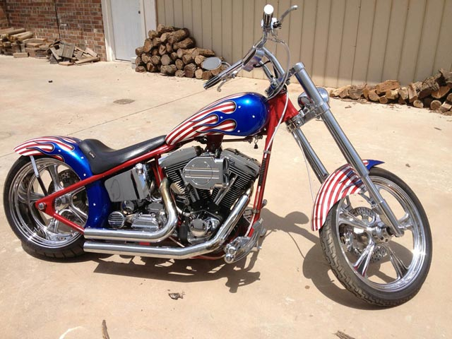 ASVE Custom Hard Tail Motorcycle - Wounded Warrior Fund Raiser