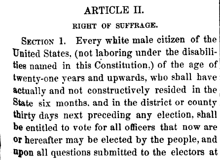 Article II, Nevada Constitution: Right of Suffrage
