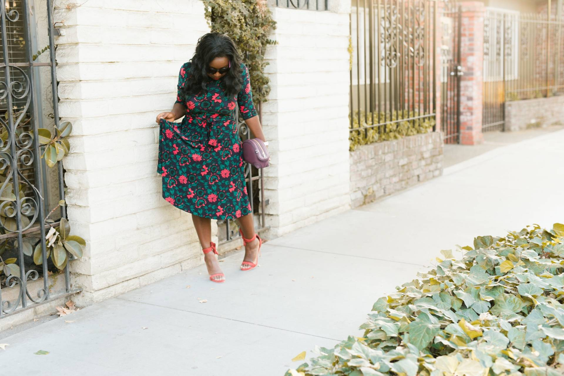 floral-dress- asos shoes