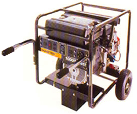 10,000 Watt portable generator for rent at Big Ten Rentals.
