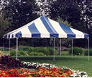 Picture of one of our 20' x 20' canopy event tents.