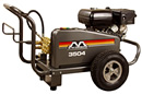Rent our 3,000 psi, gas powered, cold water pressure washer.