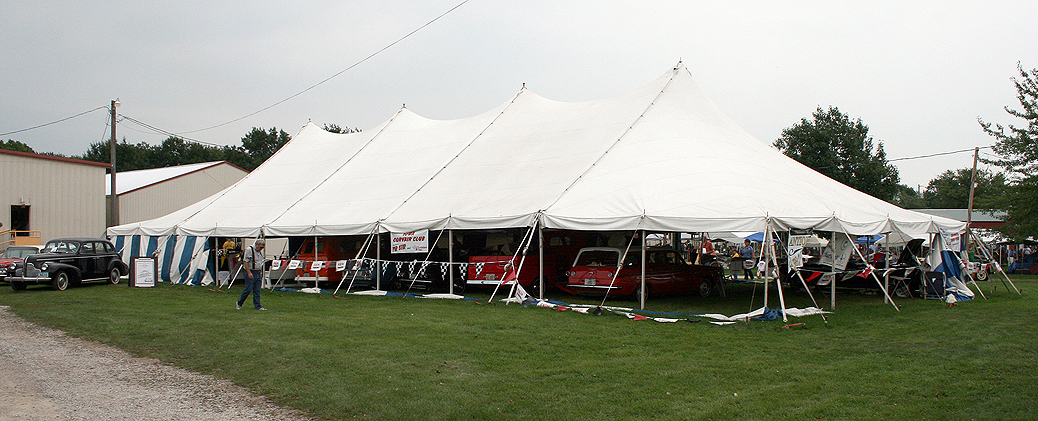 40′ x 100′ elite rope and pole tent for rental