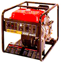 5,000 Watt portable generator for rent at Big Ten Rentals.