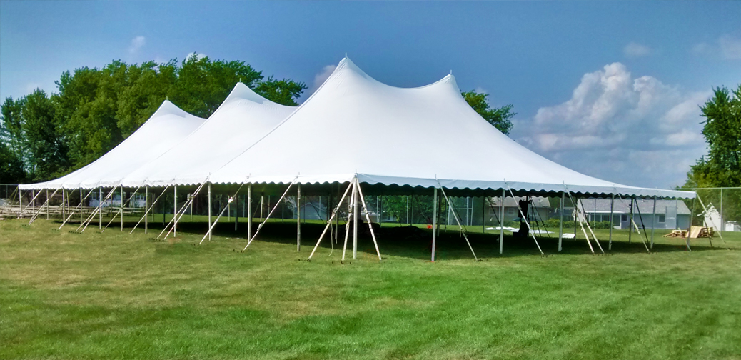 60′ x120′ twinpole rope and pole tent rental