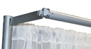 6' pipe and drape valance hanger rental
