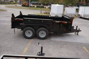 Right side of 6' x 12' Tandem Axle Dump Trailer for rent [5970]