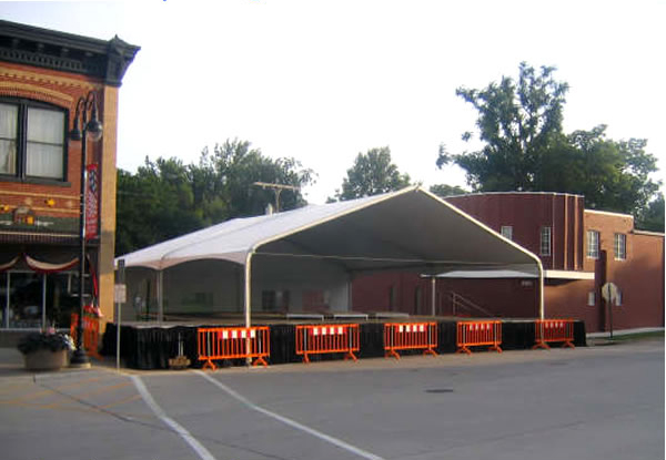 Rent our bandshell covering and stage for your next llive performance.
