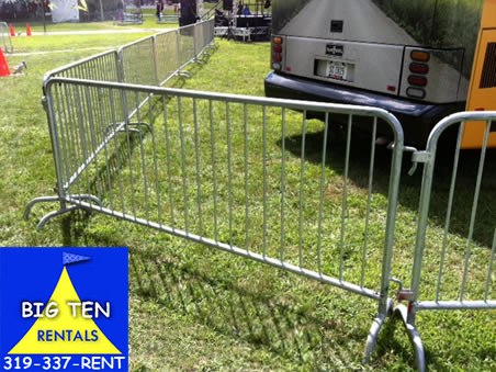 Rent our bike rack barricade. This crowd control fence is a fantastic all around solution.