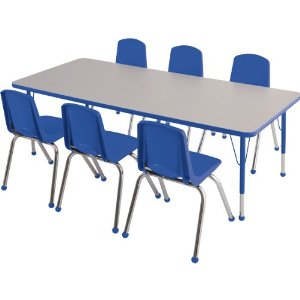 childrens-table-with-6-blue-stackable-chairs